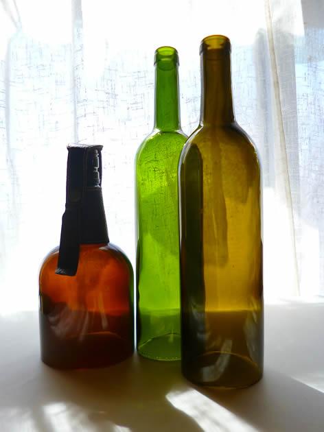 空き瓶の加工